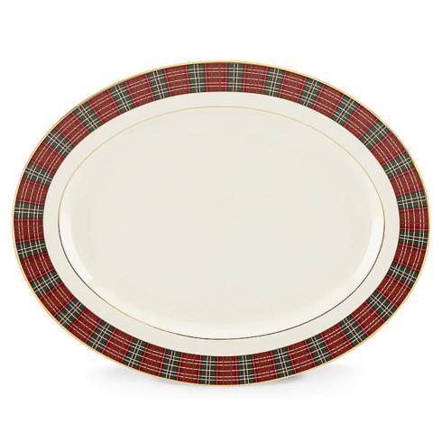 $408.00 Plaid Oval Platter