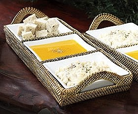 $165.00 Rectangle Tray with 3 Dividers