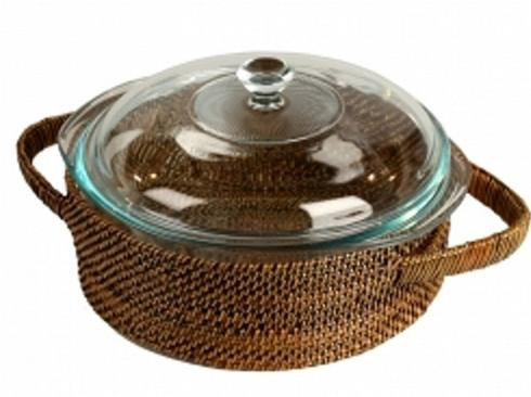 $68.00 Round Pyrex Holder with 2 Quart Casserole