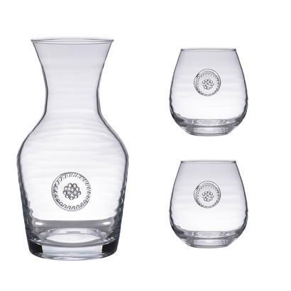 $94.00 Carafe+2 Stemless Red Wine Gift Set