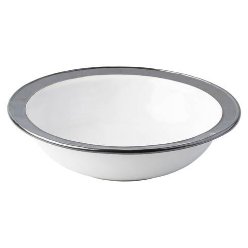 """$250.00 White/Pewter 13"""" Serving Bowl"""