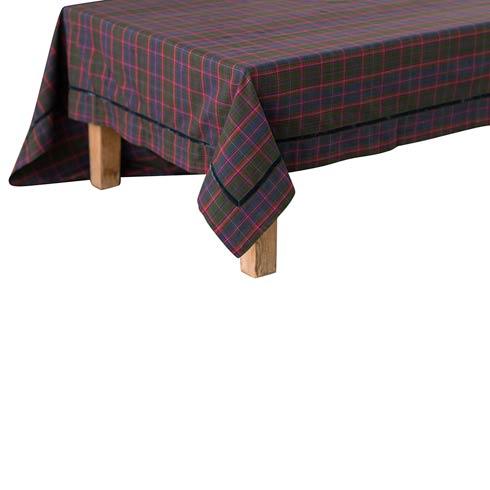 "$140.00 Chalet Tartan 70""x108"" Table Cloth"