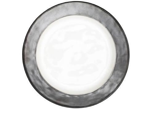 $49.00 White/Pewter Dinner Plate