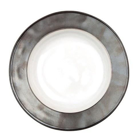 $46.00 White/Pewter Pasta/Soup Bowl