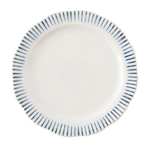 $40.00 Stripe Indigo Dinner Plate