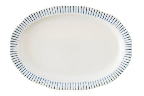 "$125.00 Stripe Indigo 17"" Serving Platter"