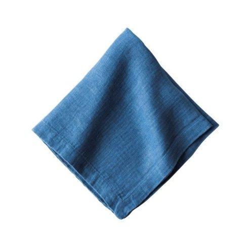 $12.00 Heirloom Linen Delft Blue Napkin