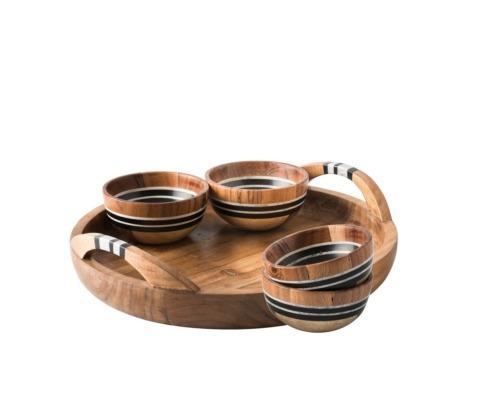 $275.00 5pc Appetizer Set: Tray & 4 Bowls