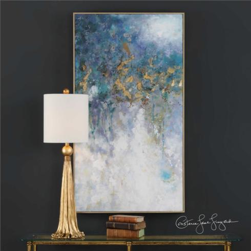 $405.00 FLOATING HAND PAINTED CANVAS