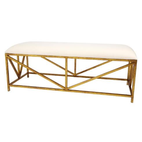 $549.00 WHITE AND GOLD BENCH