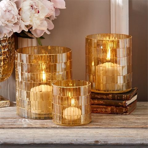 $43.25 CRYSTAL CANDLE HOLDER LARGE