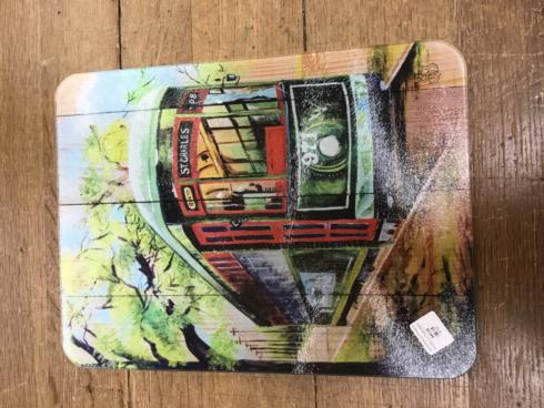 $45.00 STREETCAR GLASS CUTTING BOARD