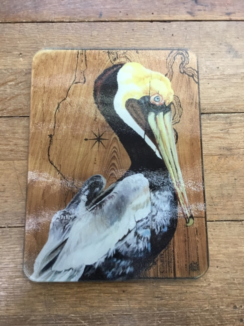 $45.00 PELICAN GLASS CUTTING BOARD