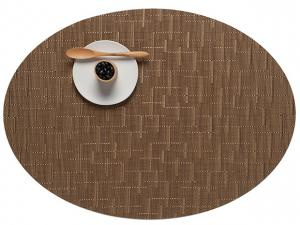 $16.00 GOLD OVAL BAMBOO TABLE MAT