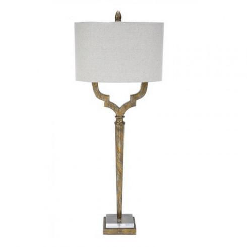 $270.00 CHAMPAGNE GOLD QUATREFOIL TABLE LAMPS