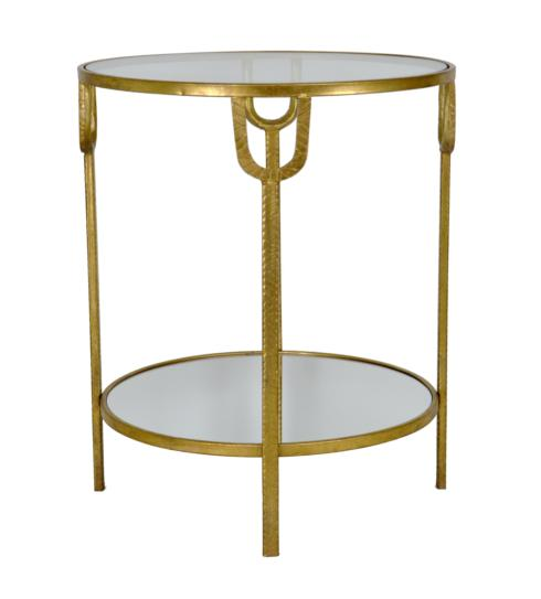 $485.00 GOLD END TABLE