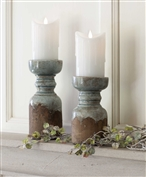 $18.00 RUSTIC CANDLE HOLDER - SMALL