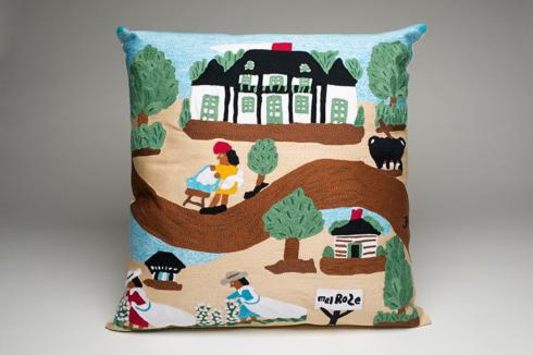 $198.00 A DAY AT MELROSE FULLY EMBROIDERED PILLOW