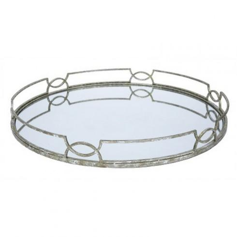 $125.00 MADELINE OVAL MIRRORED TRAY
