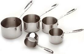 $49.99 Stainless Measuring Cups, Set of 5