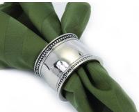 $7.49 Pearl Beaded Silver Napkin Ring