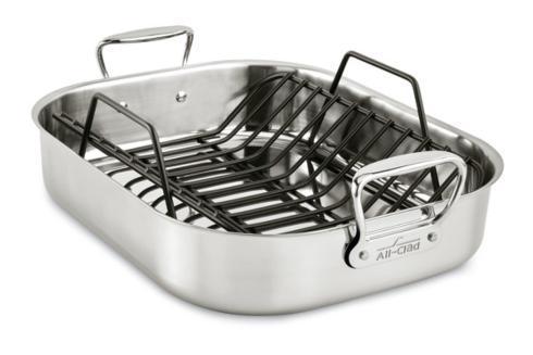 """$179.99 Stainless Steel 13"""" x 16"""" Roasting Pan"""