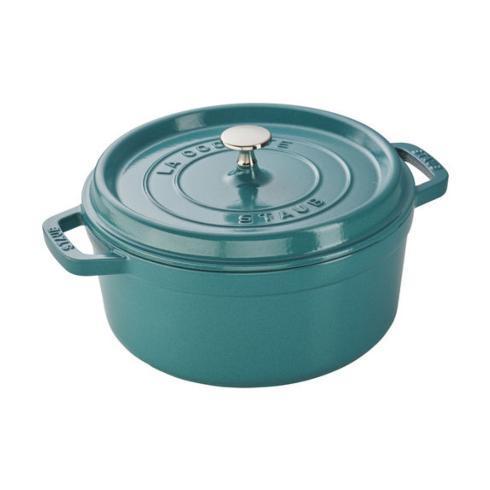 $99.99 4 Qt. Round Cocotte, Turquoise