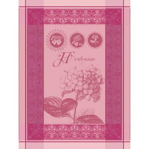 $23.00 Torchon Hortensia Rose Kitchen Towel