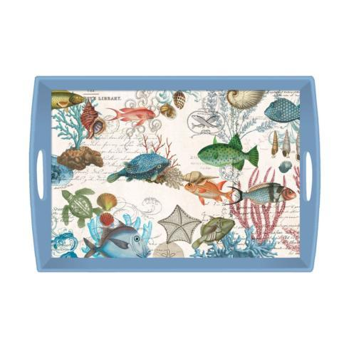 $55.00 Sea Life Decoupage Wooden Tray