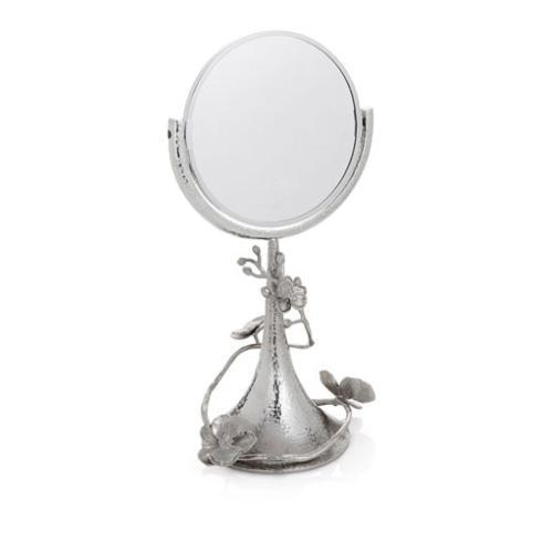 $275.00 White Orchid Vanity Mirror