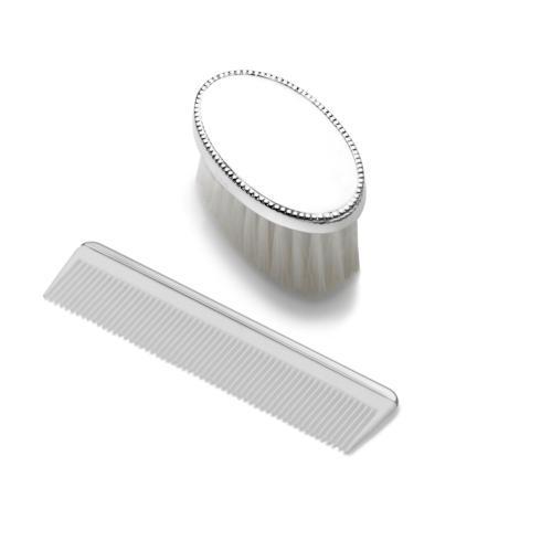 $120.00 Boys Beaded Design Brush & Comb Set