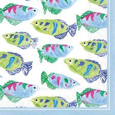 $5.25 Fish Cocktail Napkins Set of 20