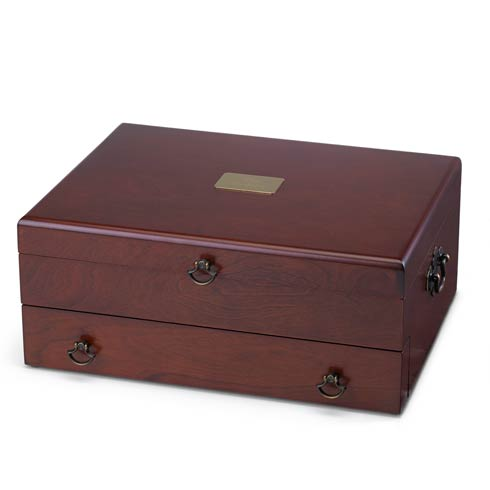 $160.00 Personalizable Bristol Mahogany/Brown Flatware Chest