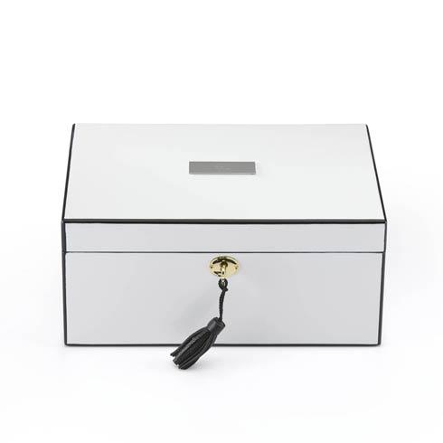 $210.00 Personalizable White Jewelry Box