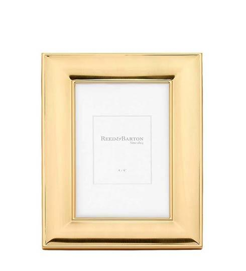 """$70.00 4 x 6"""" Satin Gold Picture Frame"""