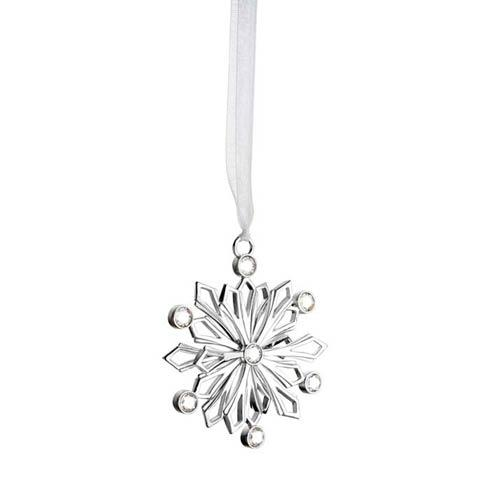 $50.00 Snowcrystal Silverplate Ornament