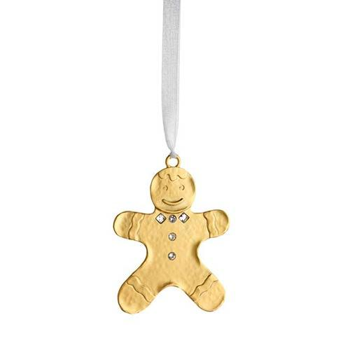 $25.00 Winter Wonder Golden Gingerbread Man Goldplate Ornament
