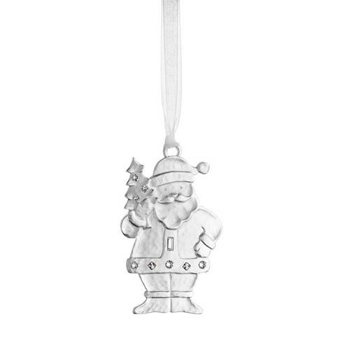 $25.00 Winter Wonder Silver Santa Silverplate Ornament
