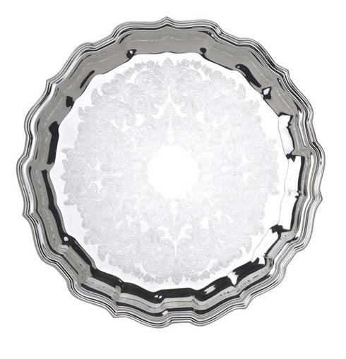 """$110.00 12 1/2"""" D. Round Tray, Embossed"""