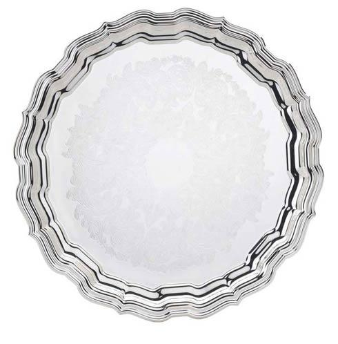 "$125.00 14 1/2"" D. Round Tray, Embossed"