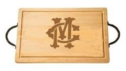 "$161.00 18"" Rectangular Cutting Board with Handles-Custom Monogram-Camp/Montgomery"