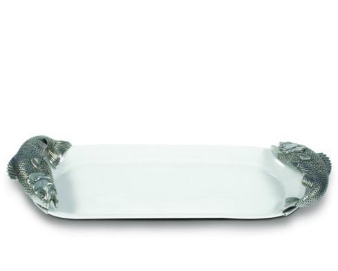 $209.00 Vagabond House Stoneware & Pewter Fish Tray - Oblong