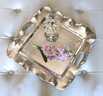 $97.00 Beatriz Ball Vento Rebecca Small Square Tray with Handles