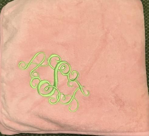 $35.00 Fleece Throw with Monogram