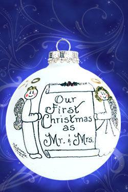 $22.00 Our First Christmas as Mr. & Mrs. Ornament