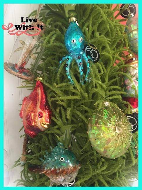 $12.00 Octopus Glass Ornament
