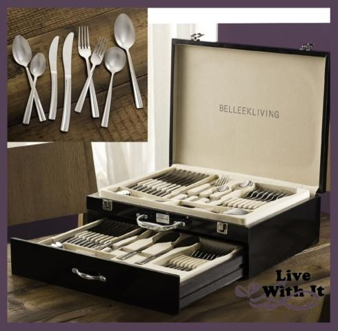 $199.00 Ocassions: 72 Piece Flatware Set (with Fine Wooden Storage Chest)