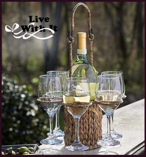 $50.00 Garden Terrace Wine Caddy Set
