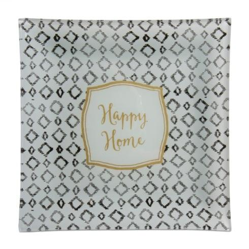 $15.00 Happy Home Glass Plate