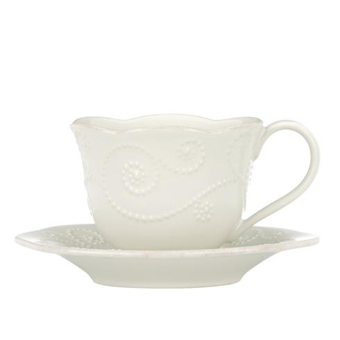 Sale $30.00 Teacup u0026 Saucer Set  sc 1 st  Live With It by Lora Hobbs & Lenox French Perle White products